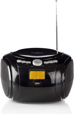 Nedis Boombox | 9 W | Bluetooth® | CD-afspiller/FM-radio/USB/AUX | Sort, SPBB100BK