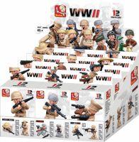 Sluban Byggeklodser WWII Serie Minifigures, M38-B0582