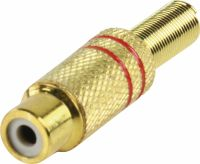 Valueline Connector RCA Female Metal Gold/Red, CC-108R