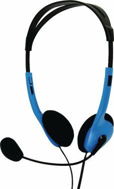basicXL Headset On-Ear 2x 3.5 mm Indbygget mikrofon 2.0 m Blå, BXL-HEADSET1BU