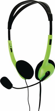 basicXL Headset On-Ear 2x 3.5 mm Indbygget mikrofon 2.0 m Grøn, BXL-HEADSET1GR