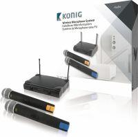 König 2-Kanal Trådløs Mikrofon 863 - 865 Mhz, KN-MICW611