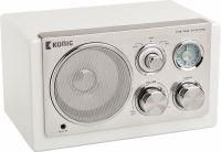 König Bord Radio Retro FM / AM 3 W Hvid, HAV-TR1200