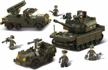 Sluban Byggeklosser Army Serie Army Set, M38-B6800