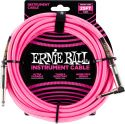 Ernie Ball EB-6083 Instrument Cable, Superior braided cable, neon y