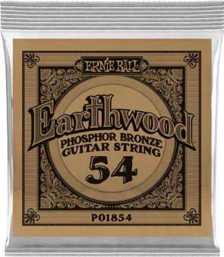 Ernie Ball EB-1854, Single .054 Wound Earthwood Phosphor Bronze str