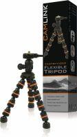 Foto & Video, Camlink Fleksibel Stativ 18 cm 0.5 kg Sort/Orange, CL-TP130