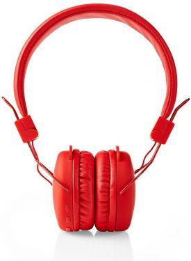 Nedis Trådløse hovedtelefoner | Bluetooth® | On-ear | Foldbar | Rød, HPBT1100RD