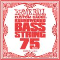 Musikinstrumenter, Ernie Ball EB-1675, Single .075 Nickel Wound string for Electric Bass