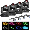 Moving Heads, BeamZ professional IGNITE150 LED Spot Moving Head - Pakke med 4 stk.