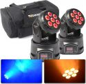 Moving Heads, BeamZ MHL74 Mini Moving Head 7x 10W 4-in-1 LED - Pakketilbud