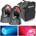 Moving Heads, BeamZ MHL108MK3 Mini Moving Head 18x 3W (3-1 RGB) - Pakketilbud