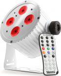 BeamZ BAC404W Aluminium LED Spot 4x18W 6-i-1 LED'er - Helt lydløs spot uden blæser, hvid