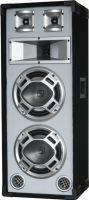 "Disco White Speaker 2x 8"" 600W LED Blue"