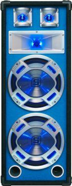"Disco PA speaker 2x 8"" 600W LED"