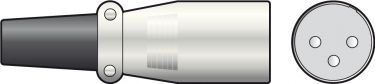 XLR 3-P hanstik, standard
