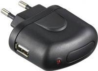 Netadapter - 100-240V til 5Vdc / 1A USB hun, Sort