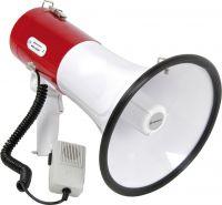 Megafon 25W med sirene