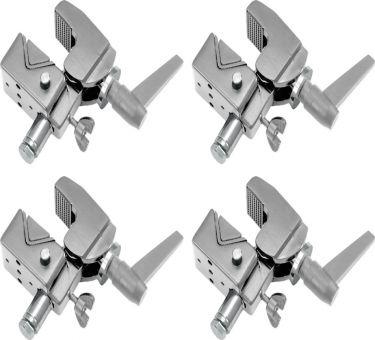 Eurolite TH-2SC Quick-Lock Coupler Silver - Pakke med 4 Stk.