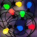 Udendørs Party Lyskæde 10m med 10 farvede LED pærer, 3W