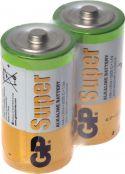 """Alkalinebatterier, GP Super Alkaline """"godt kvalitets batteri"""" 1.5V / C batteri, pakke med 24 stk."""