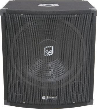 "QTX Subwoofer QT15S 300W / 15"" kraftig bas - Kompakt kabinet design!"