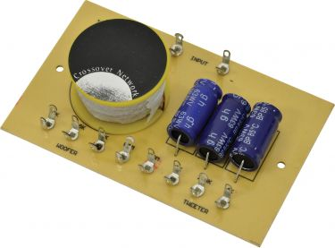 2-Way Crossover 6dB, 8 Ohm, 100W, 2/2.5/4kHz
