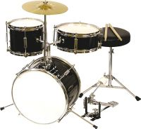 DW Audio Børne / Junior trommesæt, 3 trommer / Black
