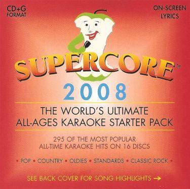 Supercore 2008 Karaoke 16 CD+G Disc Pack