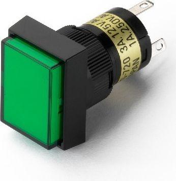 Lystrykknap grøn DS-741/GN, grøn