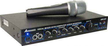 Acesonic KM-112 PC / DVD / MP4 / Guitar / Karaoke Mixer m. USB