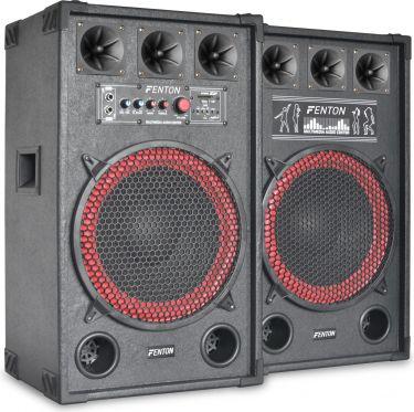 """Aktivt højttalersæt SPB-12 / 12"""" bas / 2x400W / USB/MP3-afspiller (til ungdomsværelset / hjemmebrug)"""