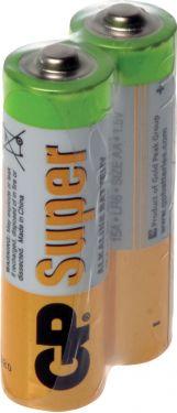 """GP Super Alkaline """"godt kvalitets batteri"""" 1.5V / AA batteri, pakke med 40 stk."""