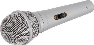 Dynamisk mikrofon DM11S, god til børn, leg og sang / sølv