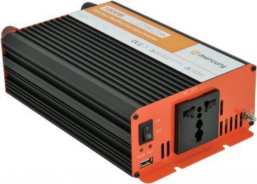 """Inverter """"soft start"""" fra 12V til 230V / 1000W, modificeret sinus (kan ikke bruges til bærbar pc)"""