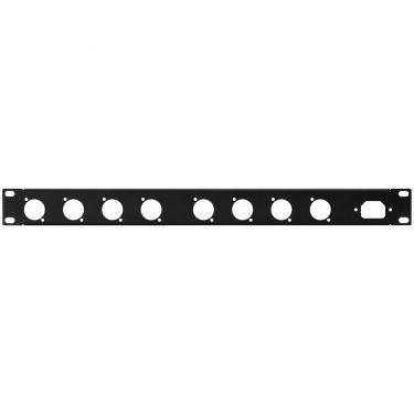 19´´ frontplade 1U m/huller RCP-8734U