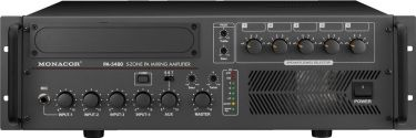 5-zone mono PA mixing amplifiers PA-5480