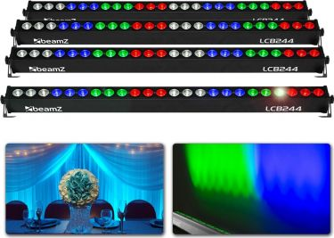 4 x LCB244 LED Bar 24x 4W - Pakksæt