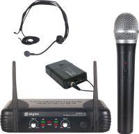 Dobbelt trådløst Mikrofonsæt STWM712C med 1 Håndholdt + 1 Headset / rækkevidde 50m