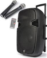 """Mobil aktiv högtalare - 12"""" trådlösa mikrofoner, Blåtand"""