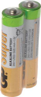 """GP Super Alkaline """"godt kvalitets batteri"""" 1.5V / AAA batteri, pakke med 40 stk."""
