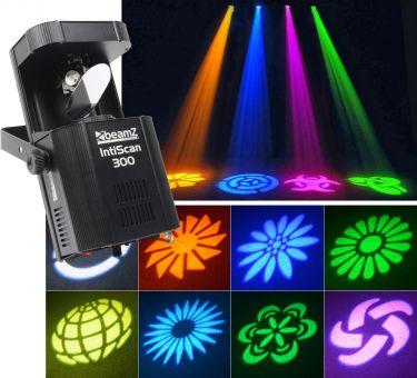 IntiScan 300 Scanner 30W LED med DMX og musikstyring - Er særdeles kraftig / Et prof valg!