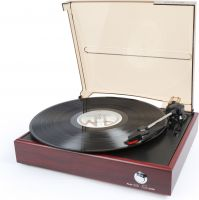 RP110 Record Player Red Wood