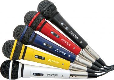Karaoke mikrofonsæt / 5 mikrofoner i forskellige farver komplet med kabel