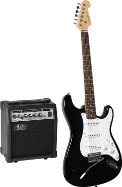 Komplet Standard EL-Guitarsæt inkl. forstærker og kabler