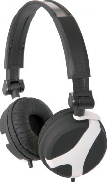 Stereo hovedtelefon QX40W god til børn og små hoveder, sort/hvid