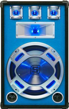 """Disco PA speaker 15"""" 800W LED"""