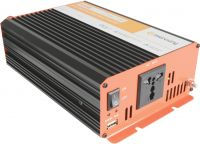 "Inverter ""soft start"" fra 12V til 230V / 600W, ren sinus (kan bruges til alt optil 600W)"