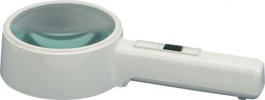 Handheld Illuminated Magnifier, 110mm Lens, 2 x Magnification
