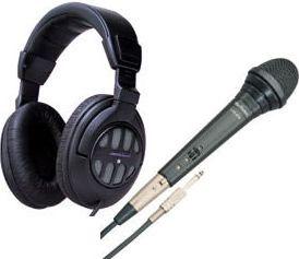 DJ Mikrofon + Hovedtelefon sæt